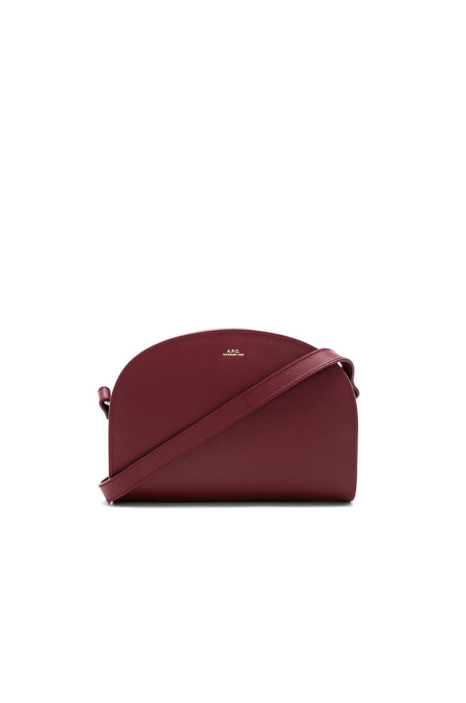 A.P.C. Sac Demi Lune Bag in Red