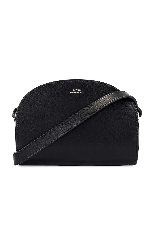 A.P.C. Sac Demi Lune Mini Bag in Noir