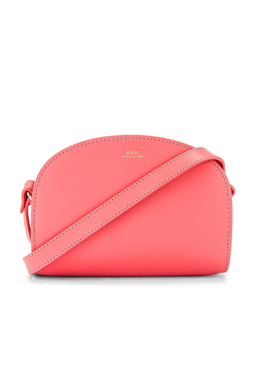 A.P.C. Sac Demi Lune Mini Bag in Rose