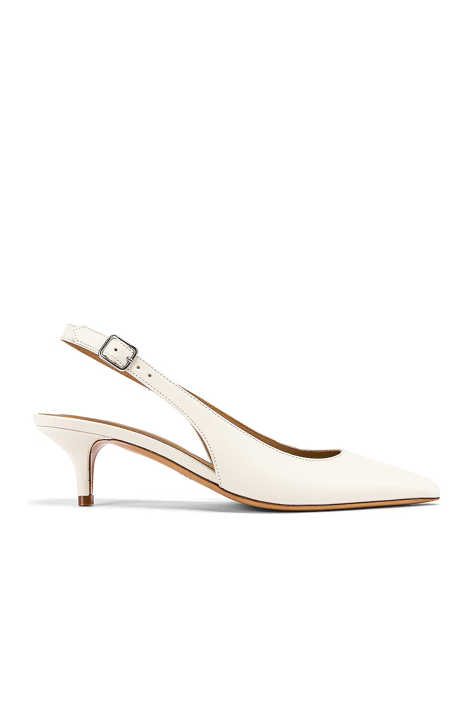 A.P.C. Chaussures Island Sling Back in Blanc