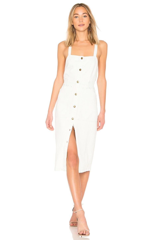 apron-style button dress