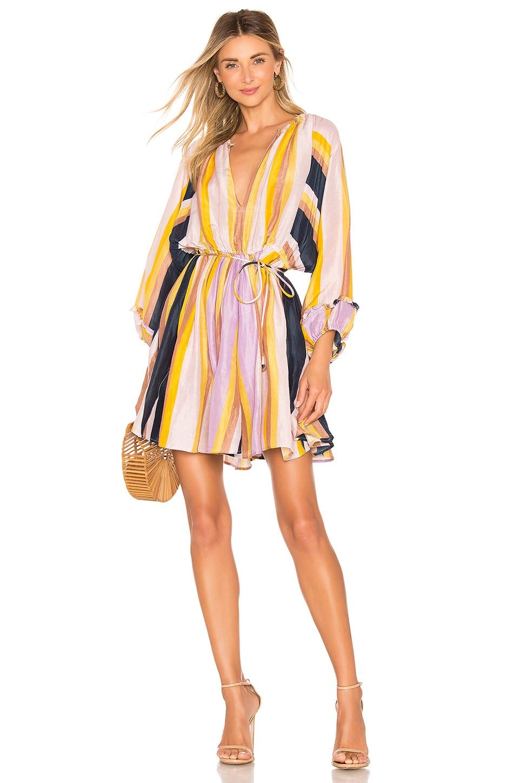 APIECE APART La Flutte Mini Dress in Olivio Stripe