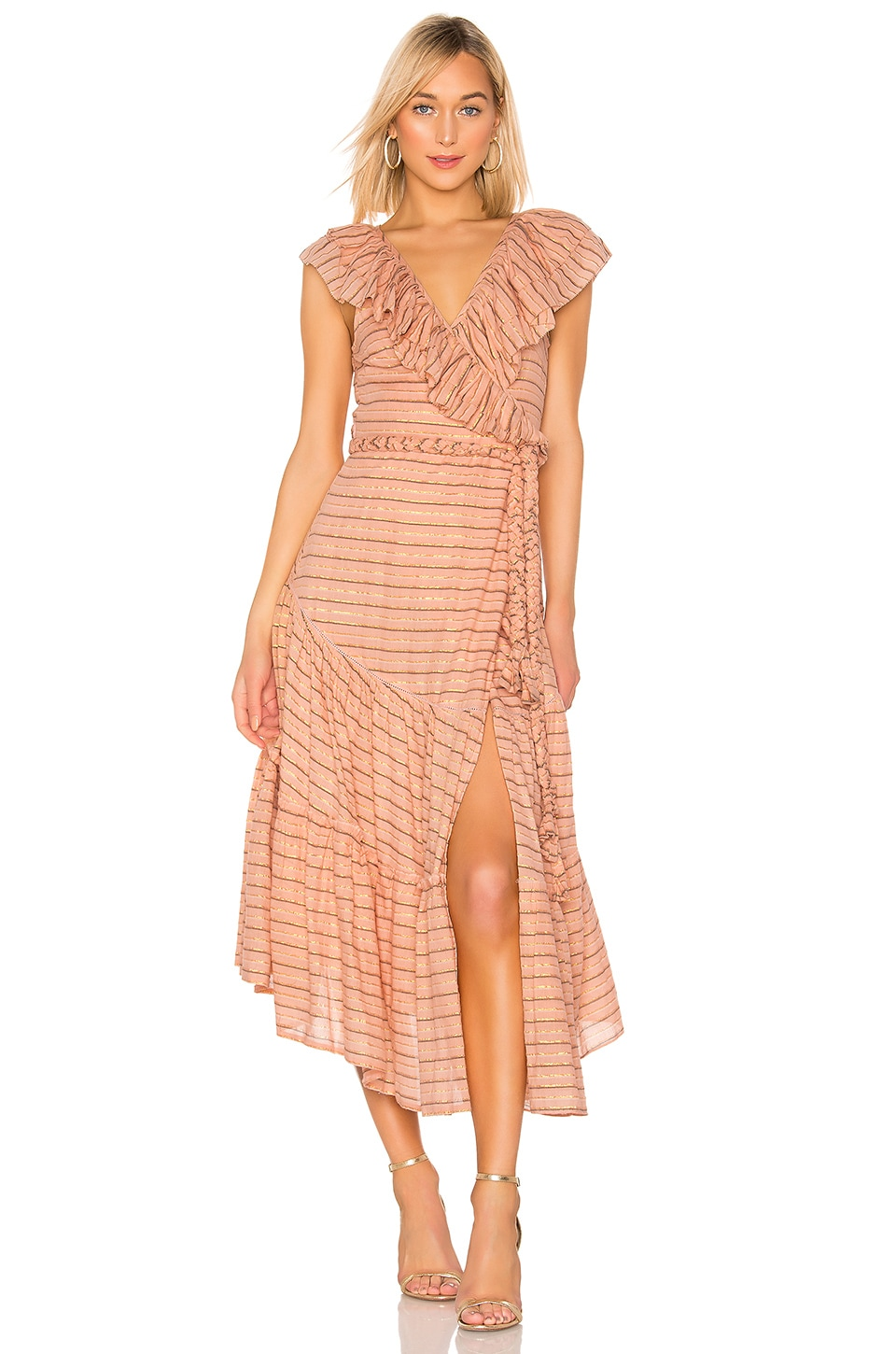 APIECE APART Nueva Costa Maxi Dress in Blush
