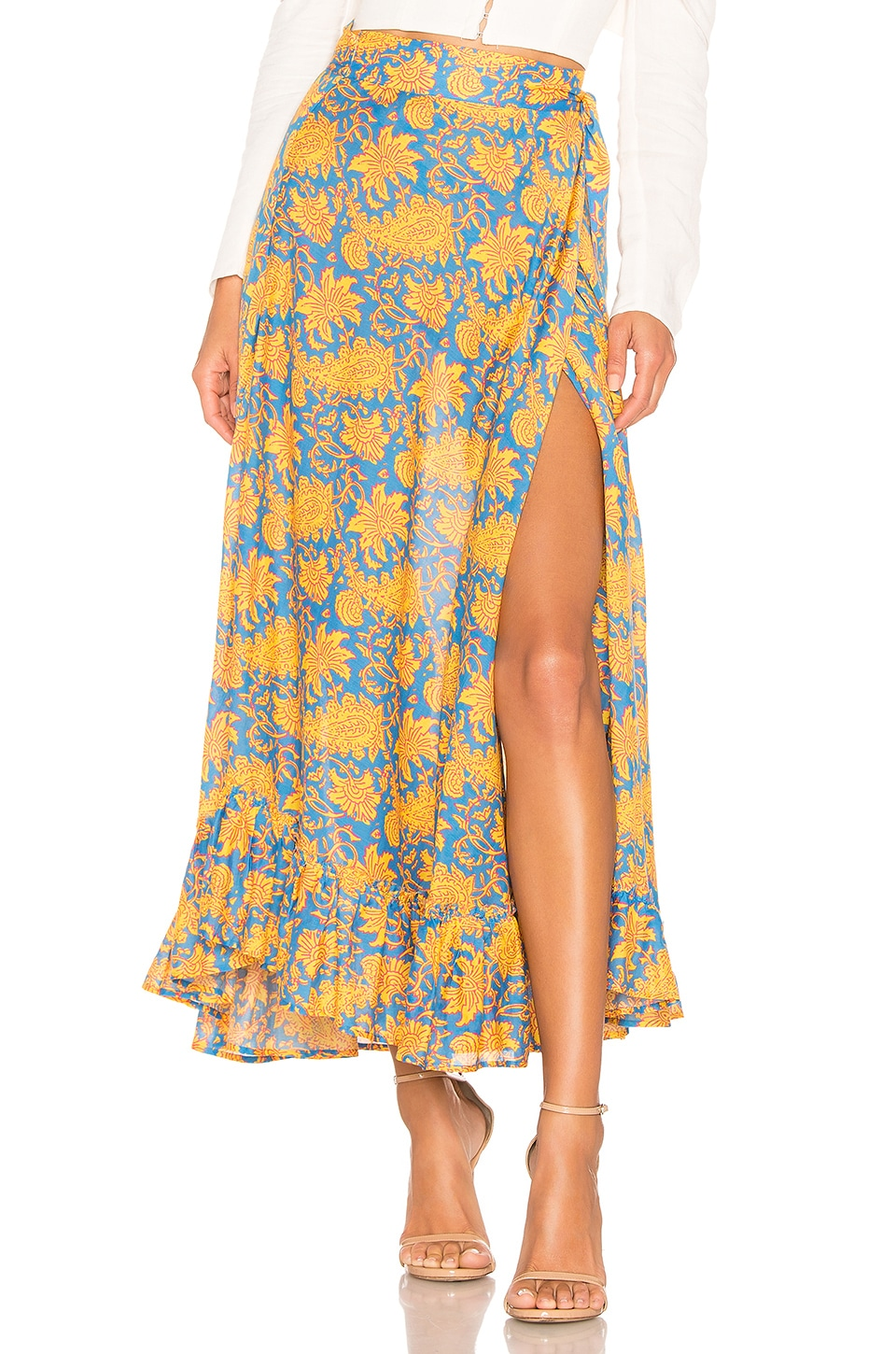 Apiece Apart Skirts APIECE APART FELIZ WRAP SKIRT IN YELLOW.