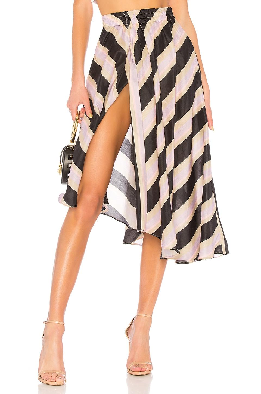 APIECE APART Asymmetric Striped Skirt in Purple
