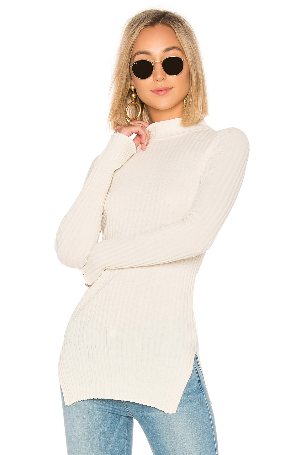 Second Skin Rib Mockneck Top
