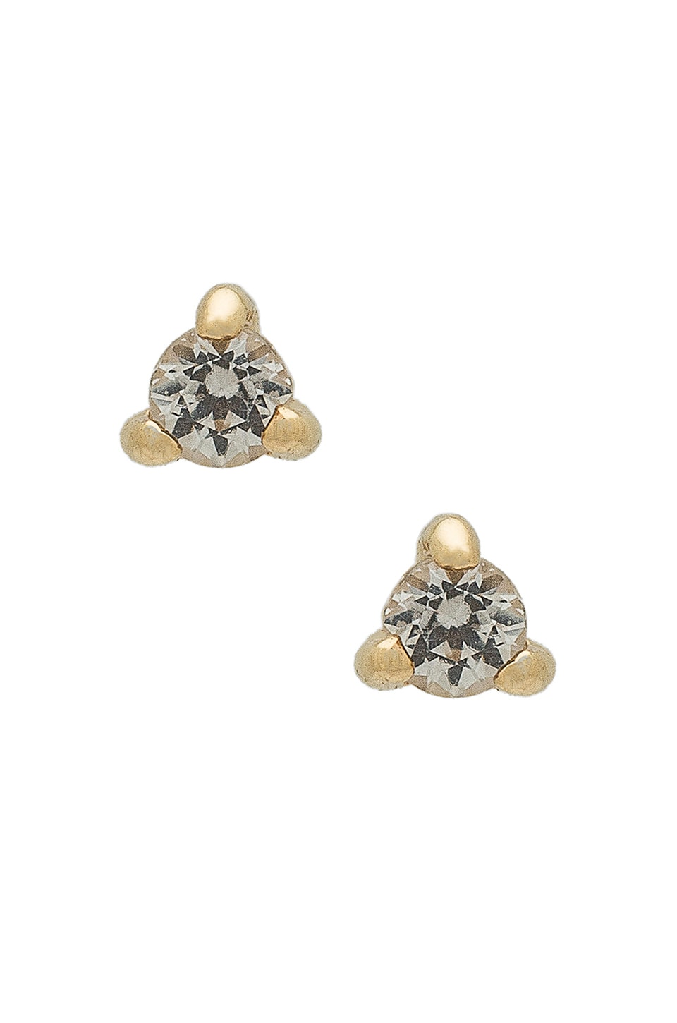 APRES JEWELRY Petite Stone Studs in Metallic Gold