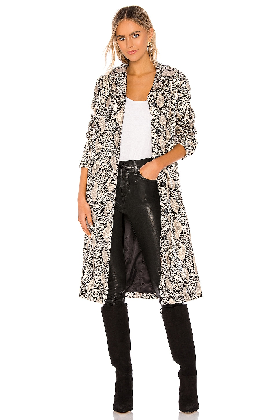 Apparis Zahra Vegan Leather Duster in Python