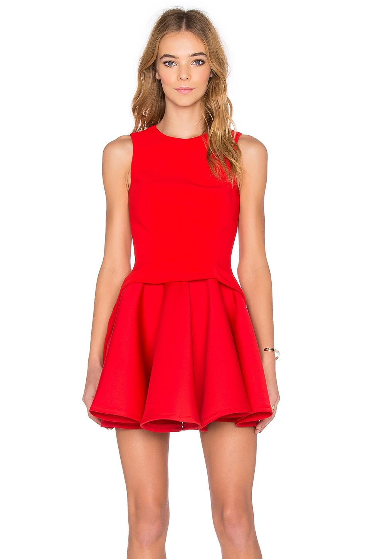 AQ/AQ Constitution Mini Dress in Cherry Red  REVOLVE