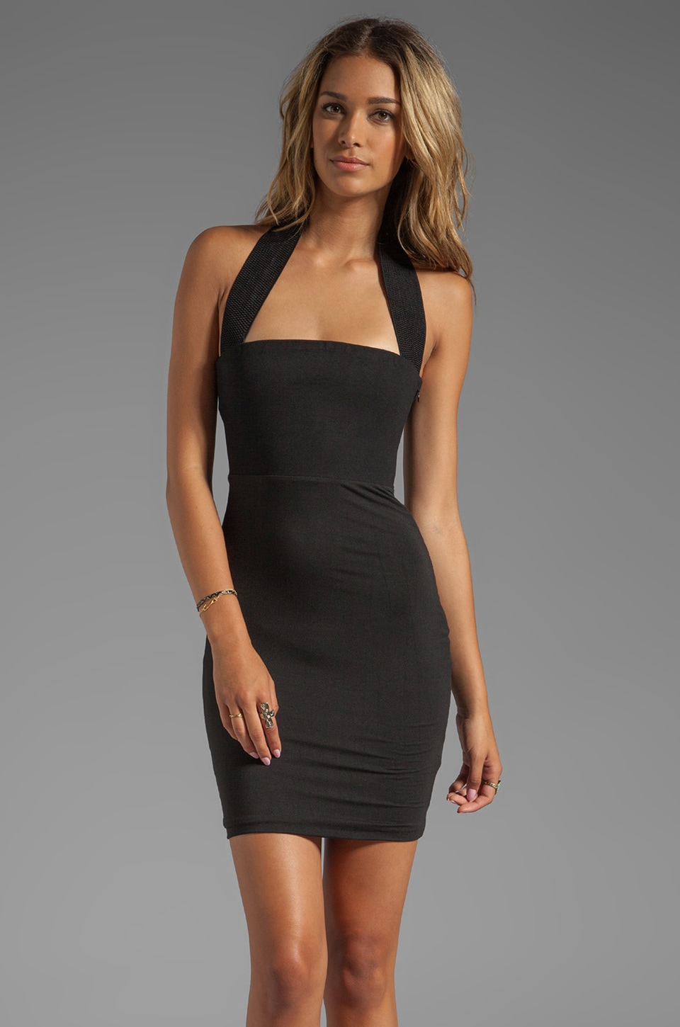 AQ/AQ Bibi Mini Dress in Black