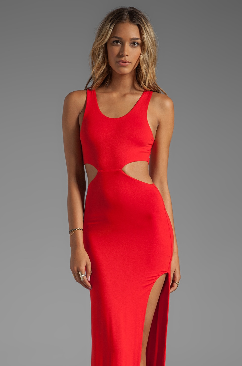 AQ/AQ Tatianna Maxi Dress in Flame Red