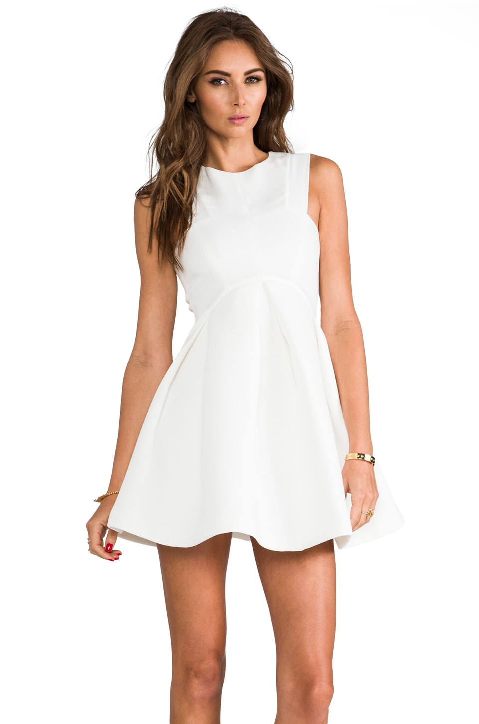 AQ/AQ Broadwalk Mini Dress in Cream