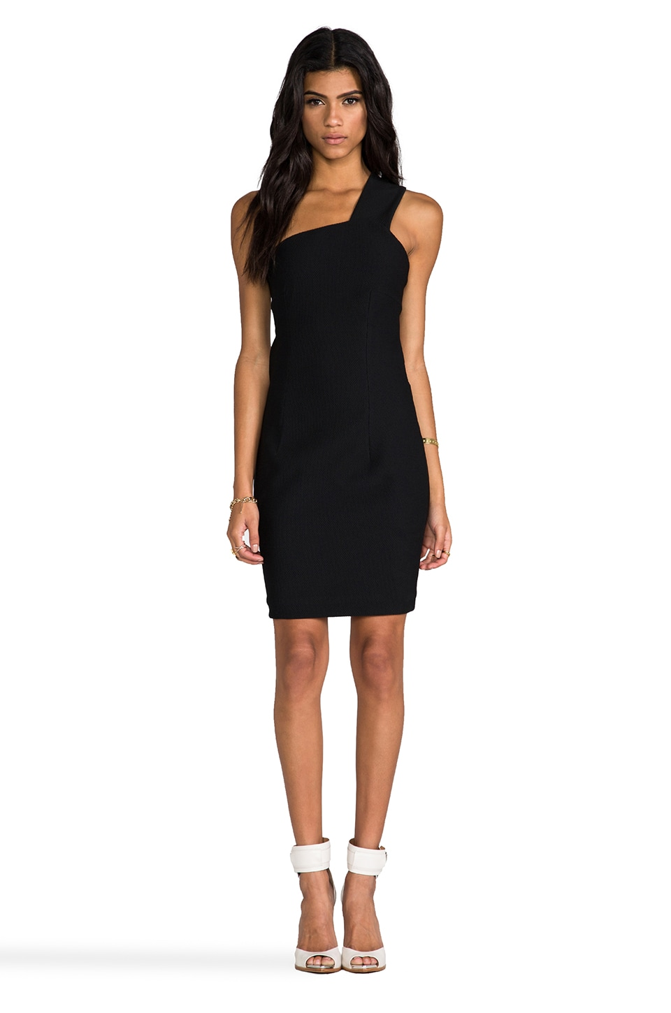 AQ/AQ Felix Mini Dress in Black