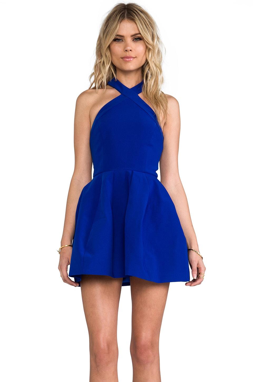 AQ/AQ Luxe Mini Dress in True Blue