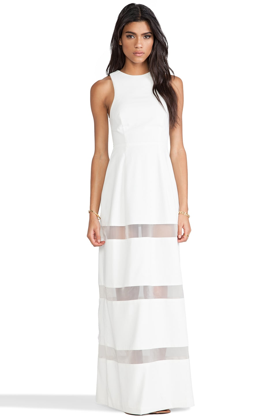 AQ/AQ Acid Maxi Dress in Cream