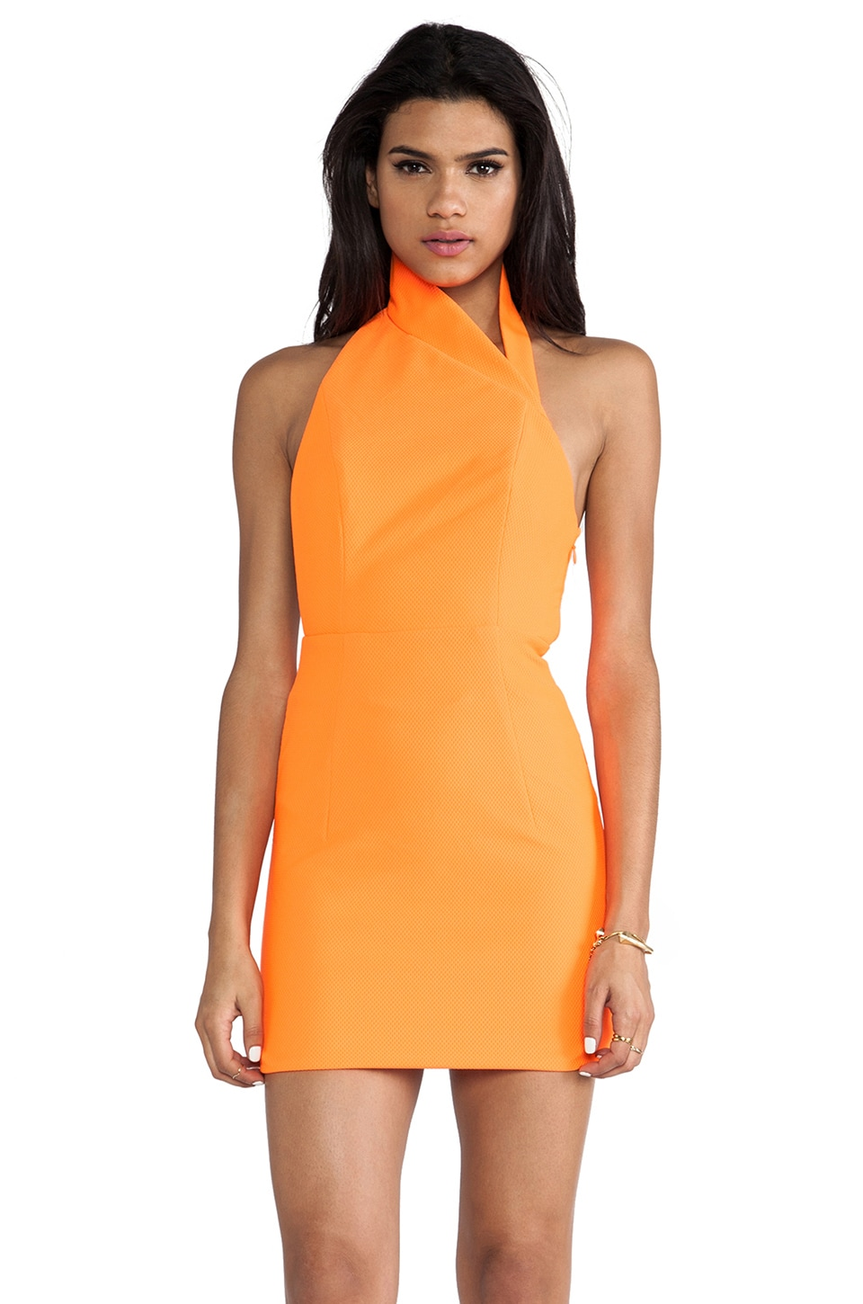 AQ/AQ Hannah Mini Dress in Acid Orange