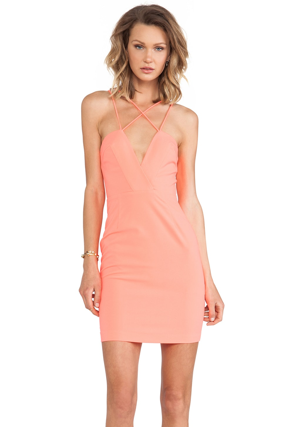 AQ/AQ Yarra Mini Dress in Pink Grapefruit