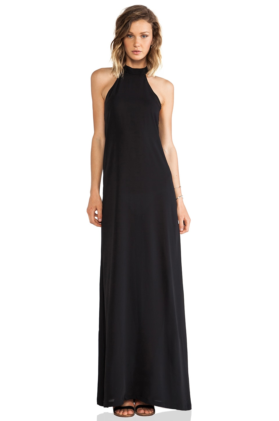 AQ/AQ Helden Maxi Dress in Black
