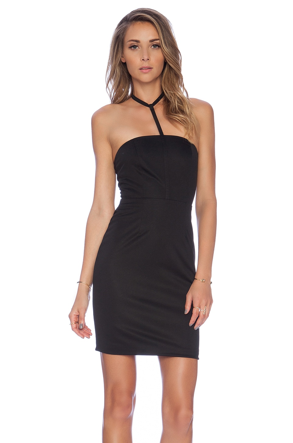 AQ/AQ Gwen Mini Dress in Black