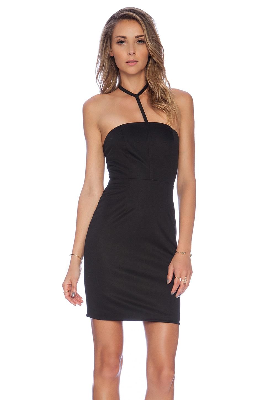 AQ/AQ Gwen Mini Dress in Black
