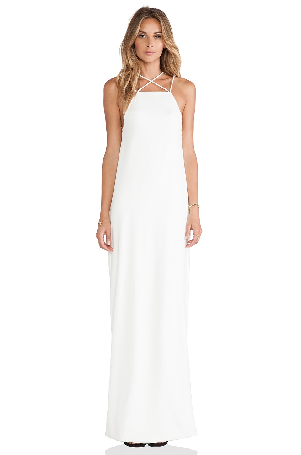 AQ/AQ Verses Maxi Dress in Cream