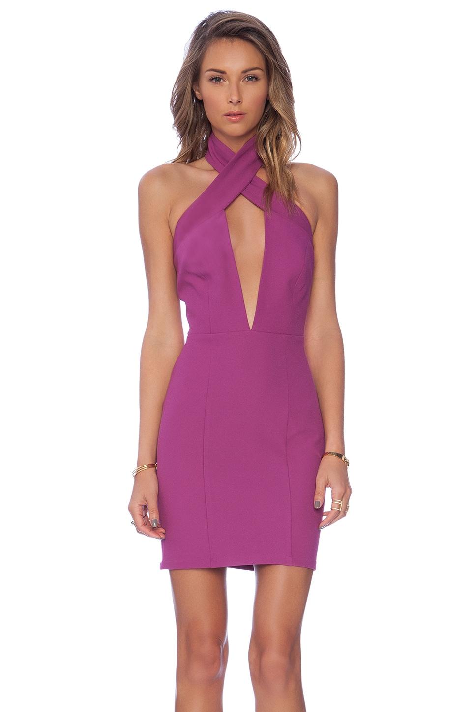 AQ/AQ State Mini Dress in Hyacinth Violet