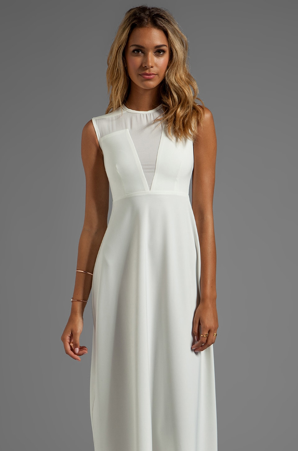 AQ/AQ Fiona Maxi Dress in Cream