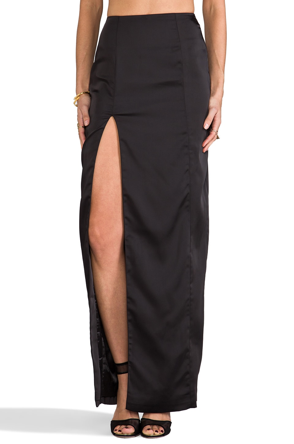 AQ/AQ Kamwoo Maxi Skirt in Black