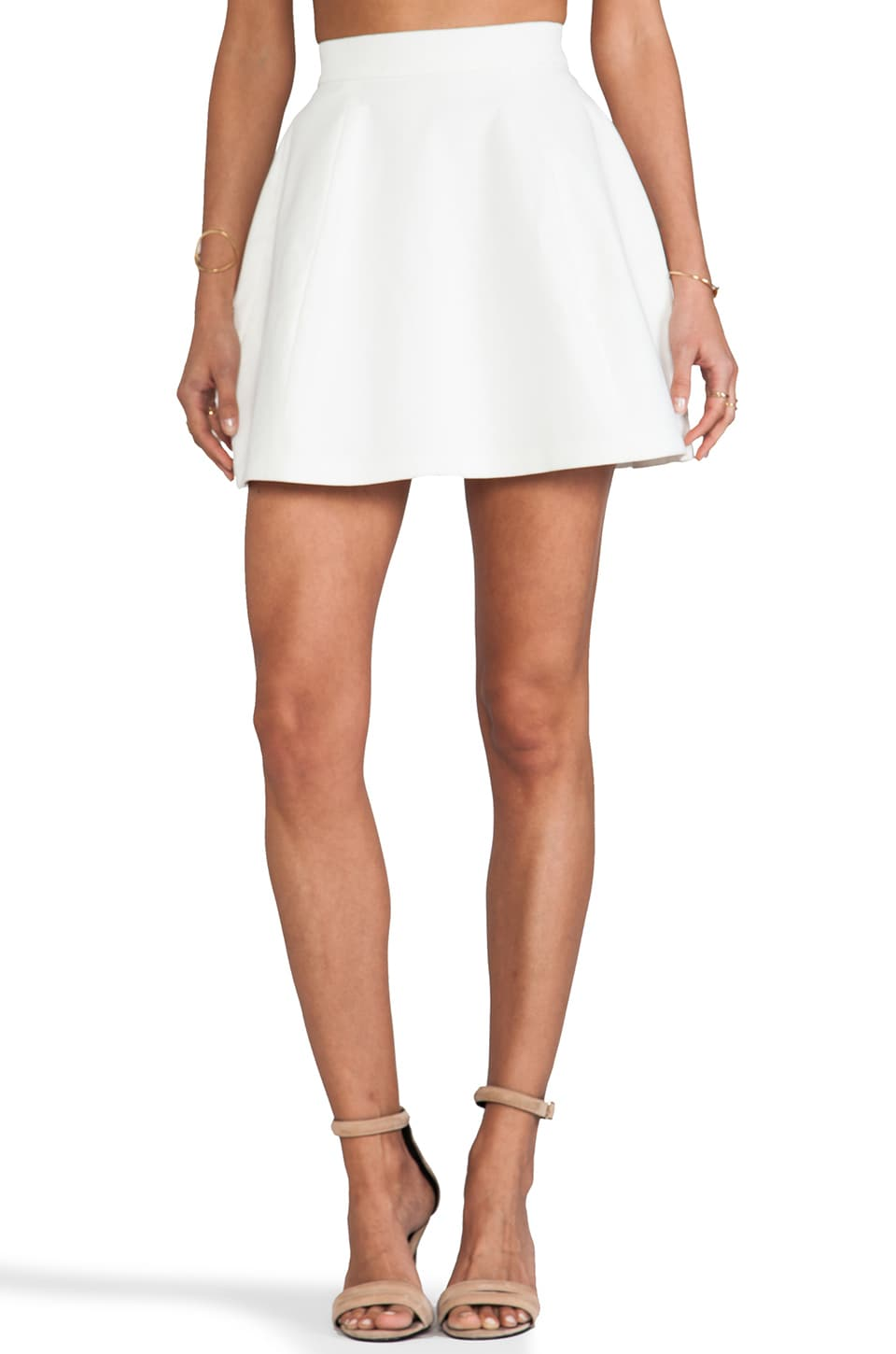AQ/AQ Shade Mini Skirt in Cream