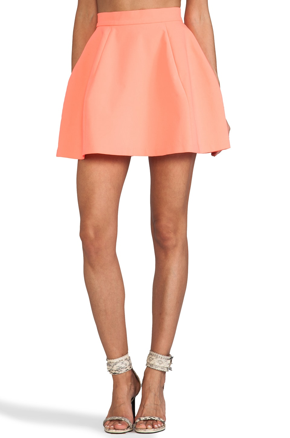 AQ/AQ Shade Mini Skirt in Pink Grapefruit