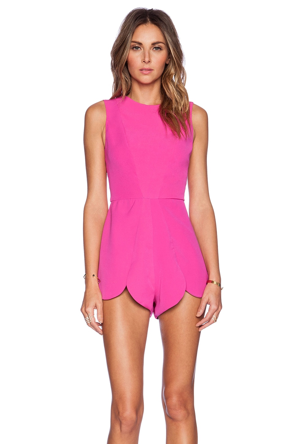AQ/AQ Romp Playsuit in Night Life Pink