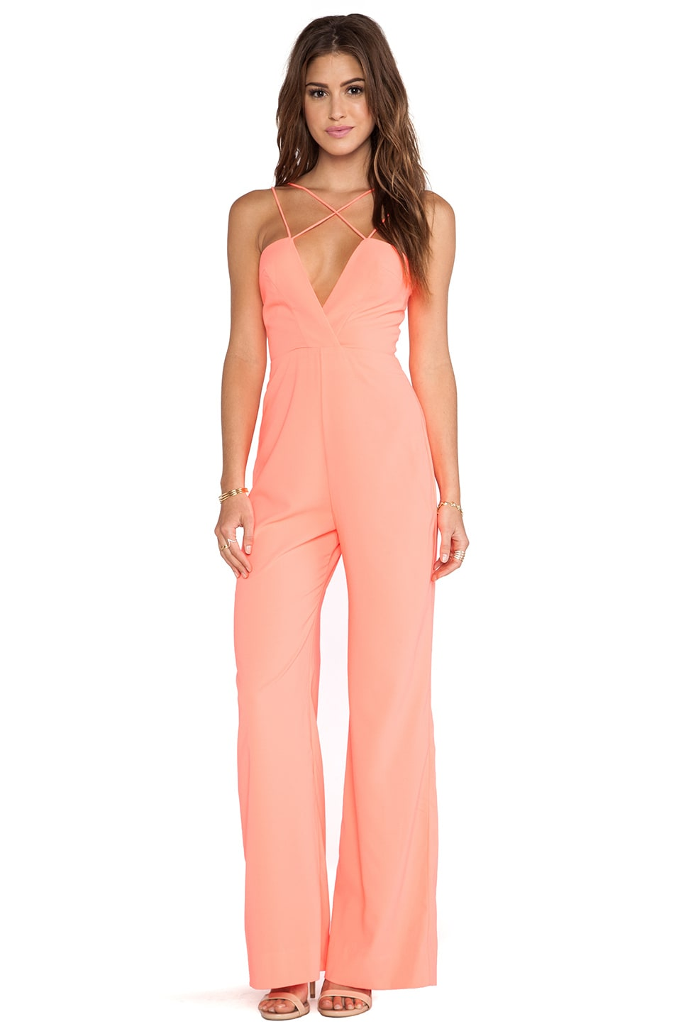AQ/AQ Sane Jumpsuit in Pink Grapefruit