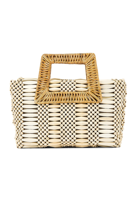Aranaz Cerise Handbag in Cream
