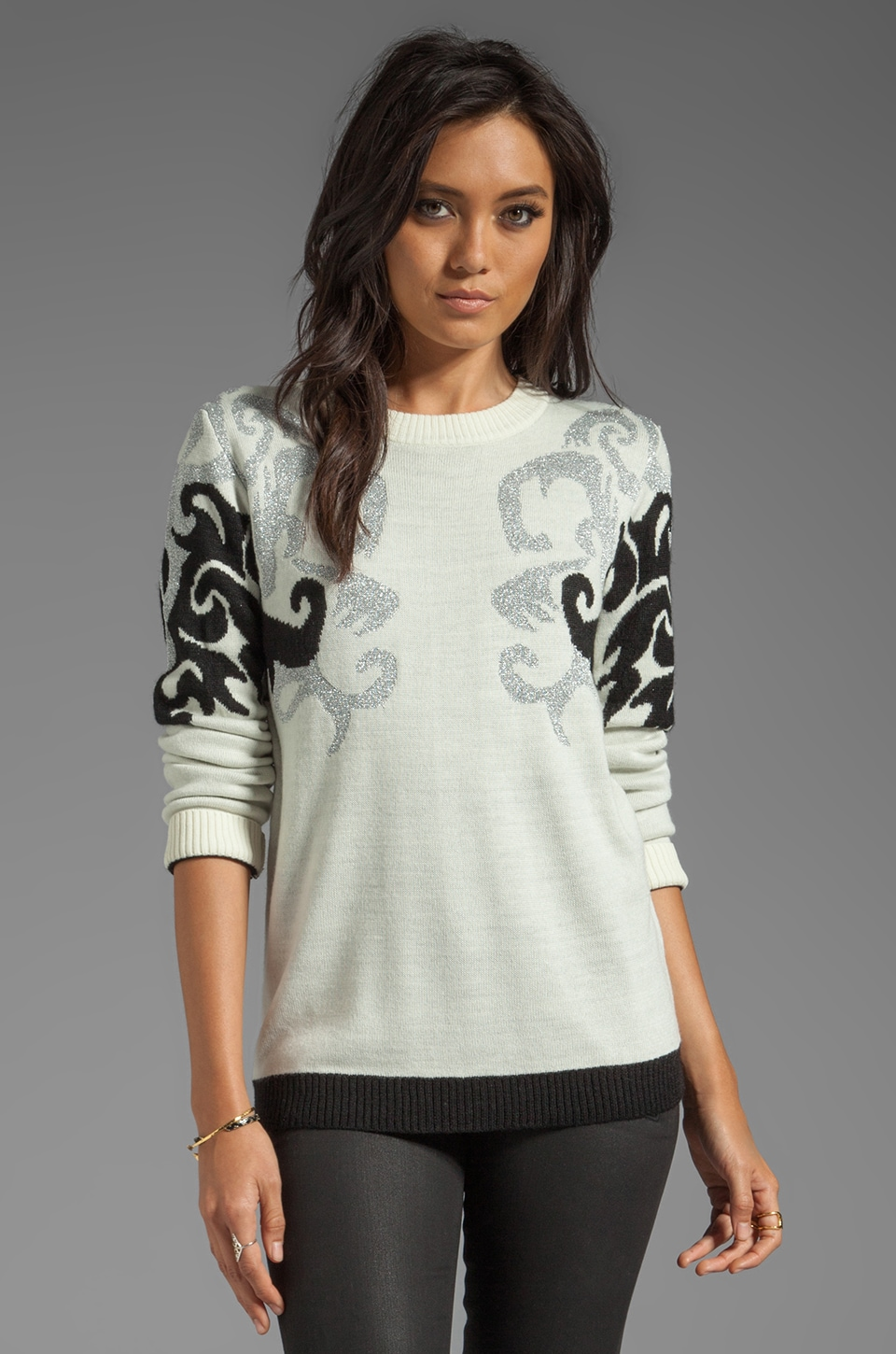 American Retro Amanda Sweater in White