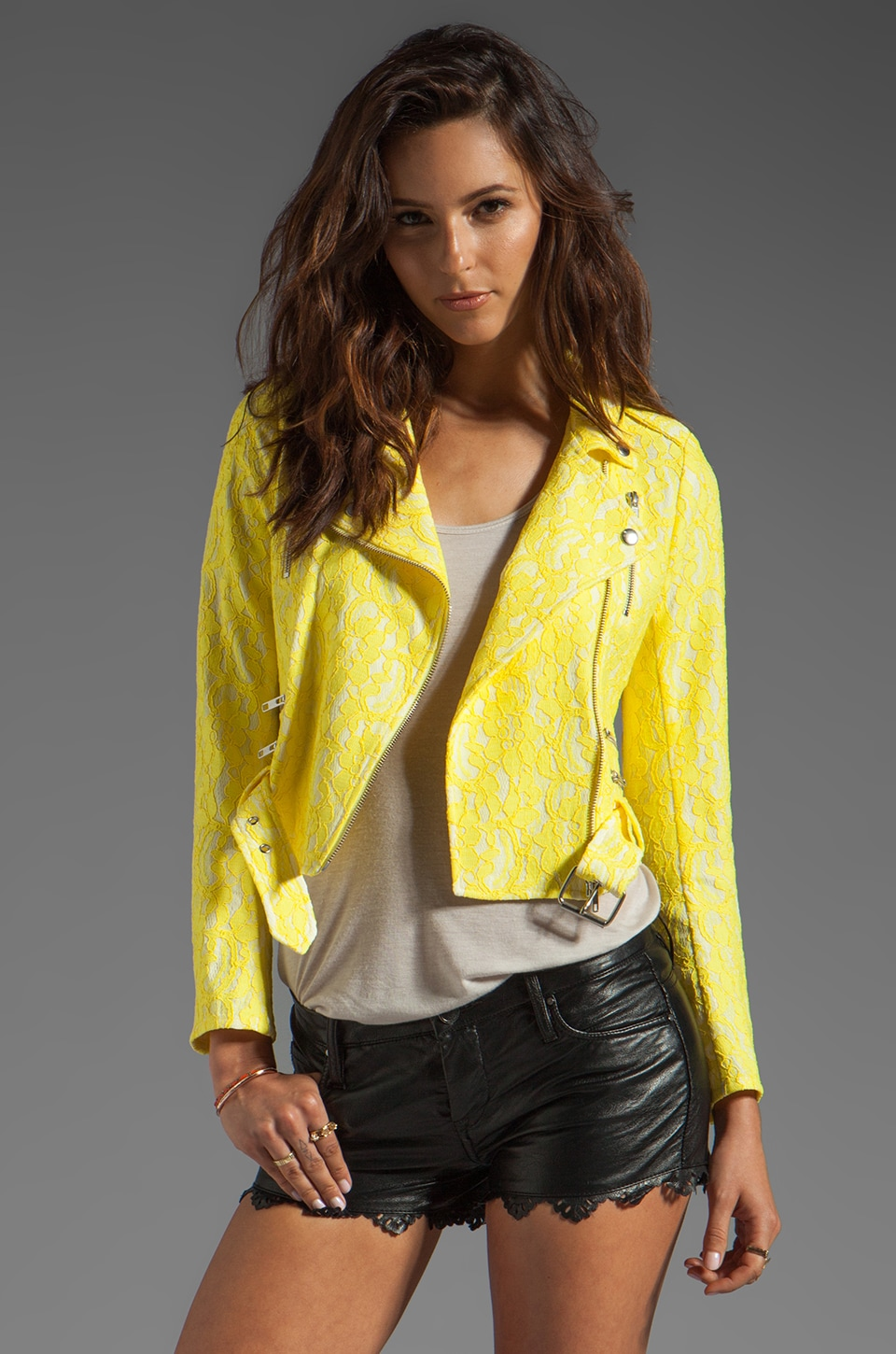 American Retro Cintia Jacket in Yellow