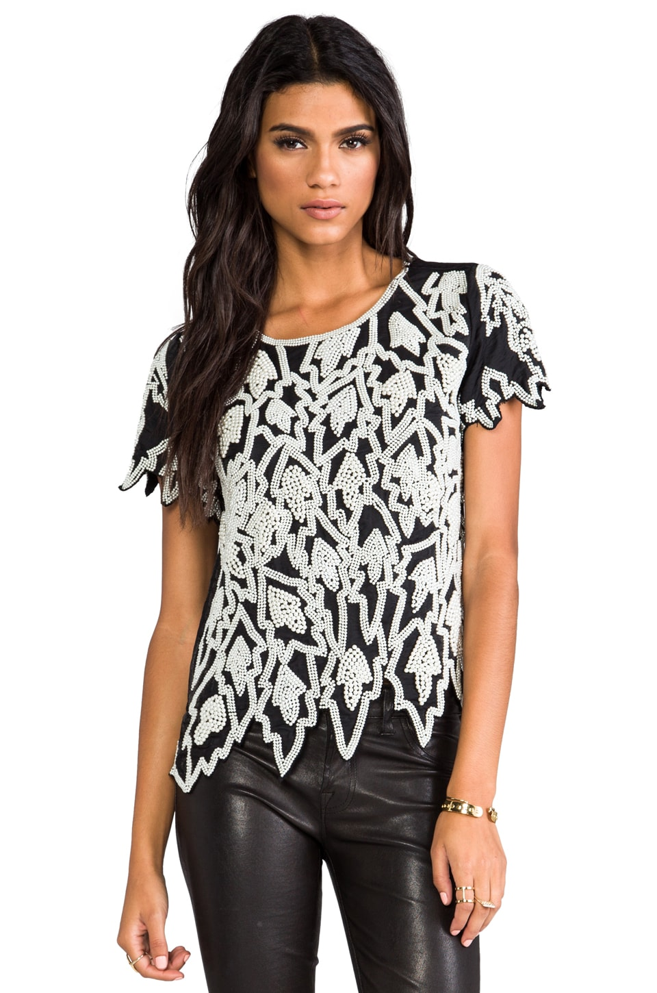 American Retro Lesli Top in Black