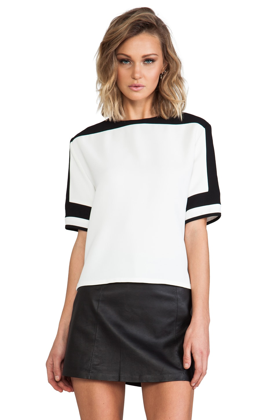 American Retro James Top in White