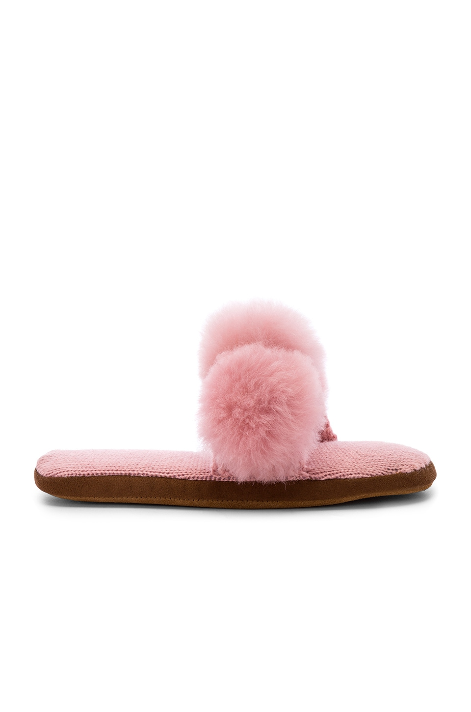 ARIANA BOHLING Triple Pom Slide in Pink