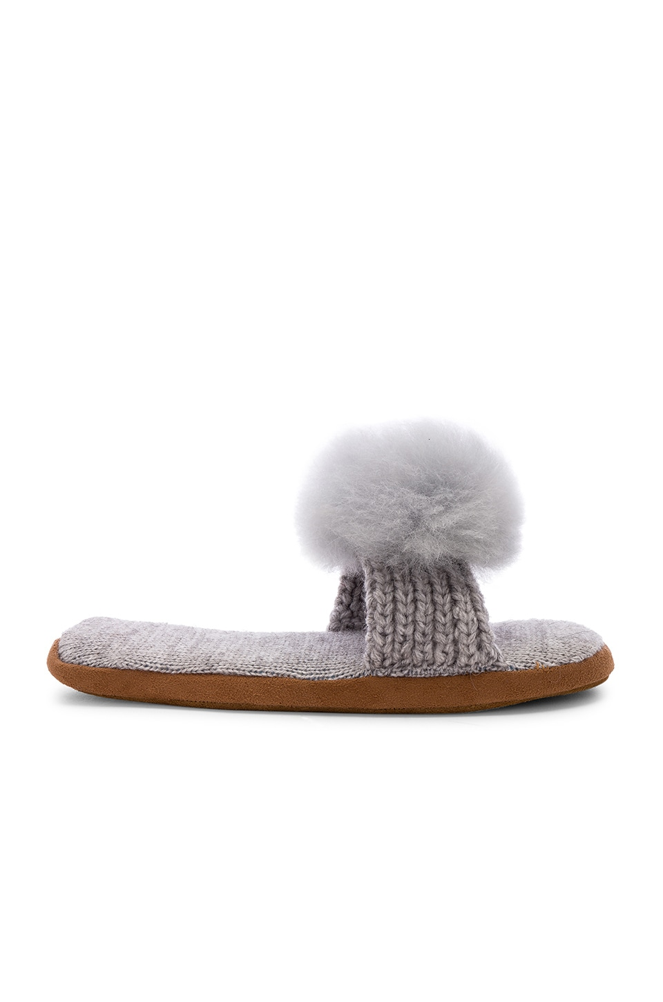 ARIANA BOHLING Pom Slide in Grey