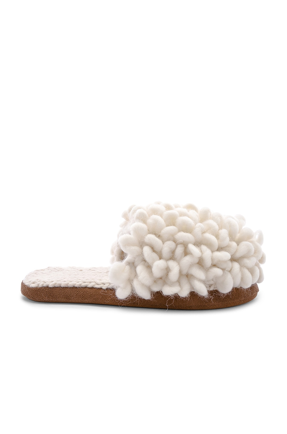 ARIANA BOHLING Loop Scuff Slipper in White