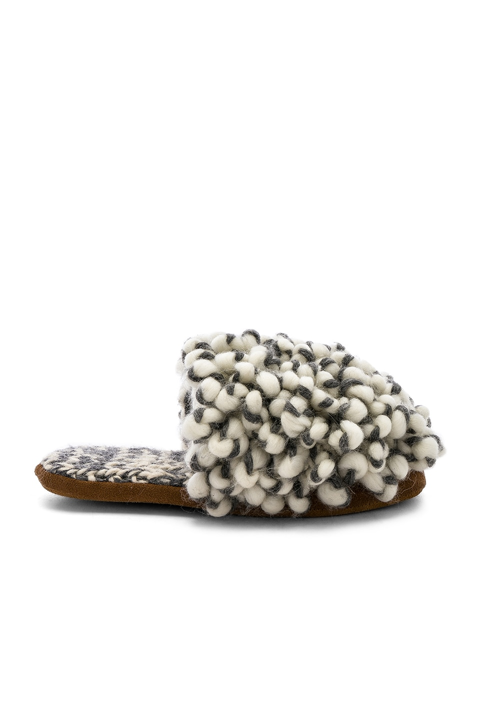 ARIANA BOHLING Loop Scuff Slipper in Gray