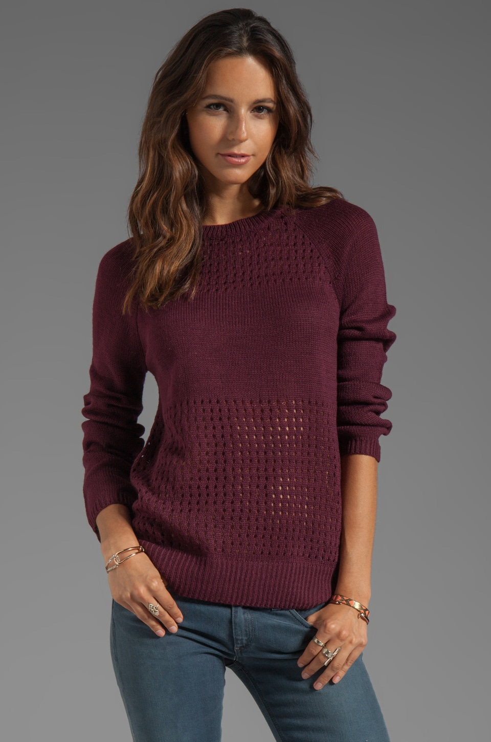 Ash-Rain-Oak Carmen Sweater in Plum