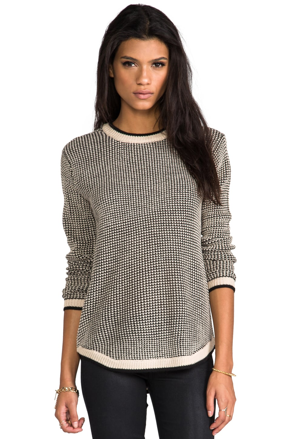 Ash-Rain-Oak Simone Sweater in Bisque