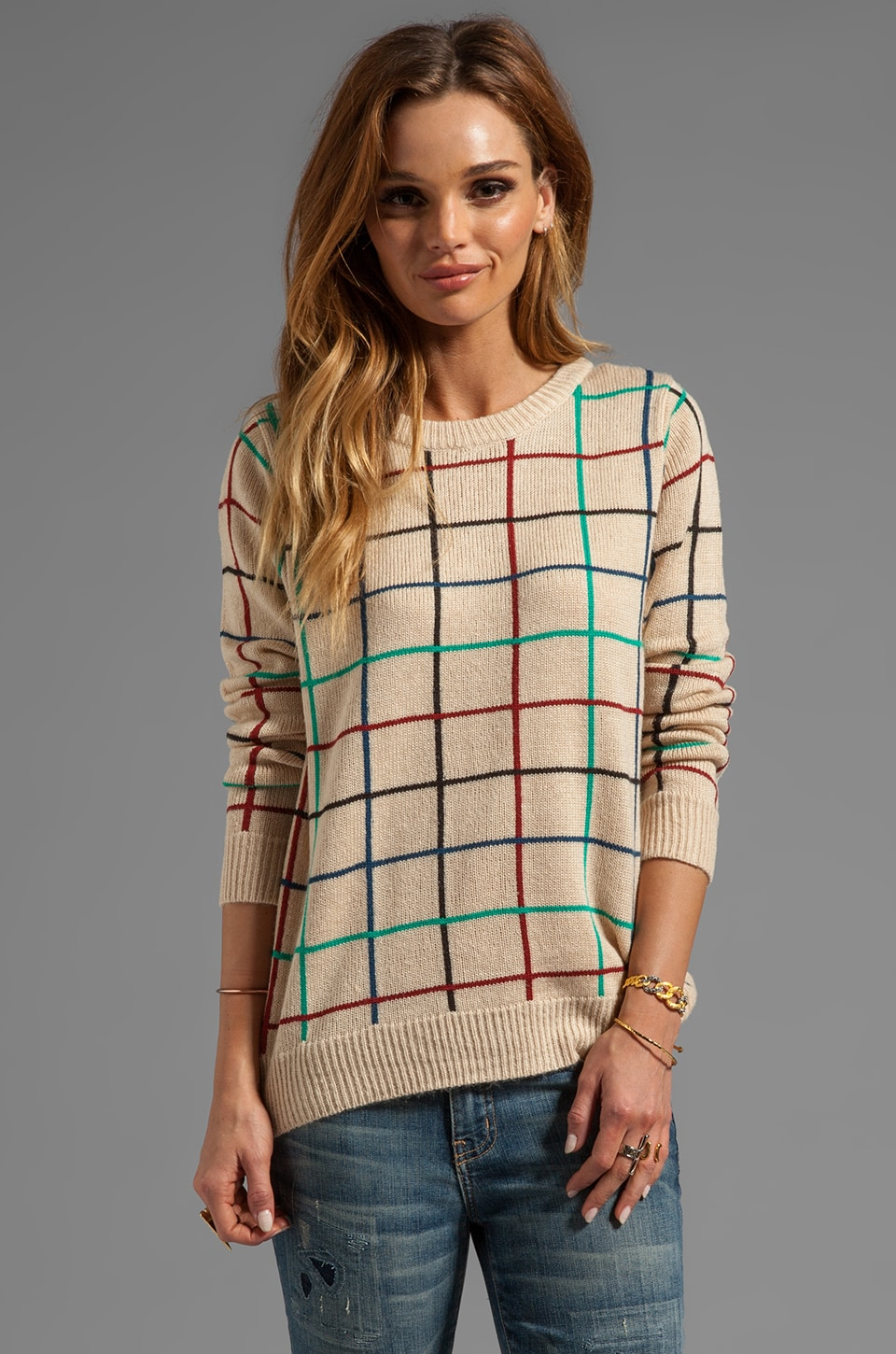 Ash-Rain-Oak Addison Sweater in Bisque Multi