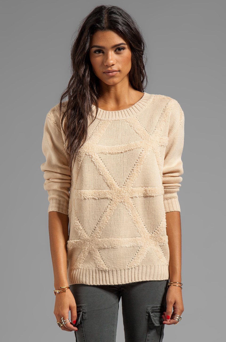 Ash-Rain-Oak Marny Sweater en Bisque