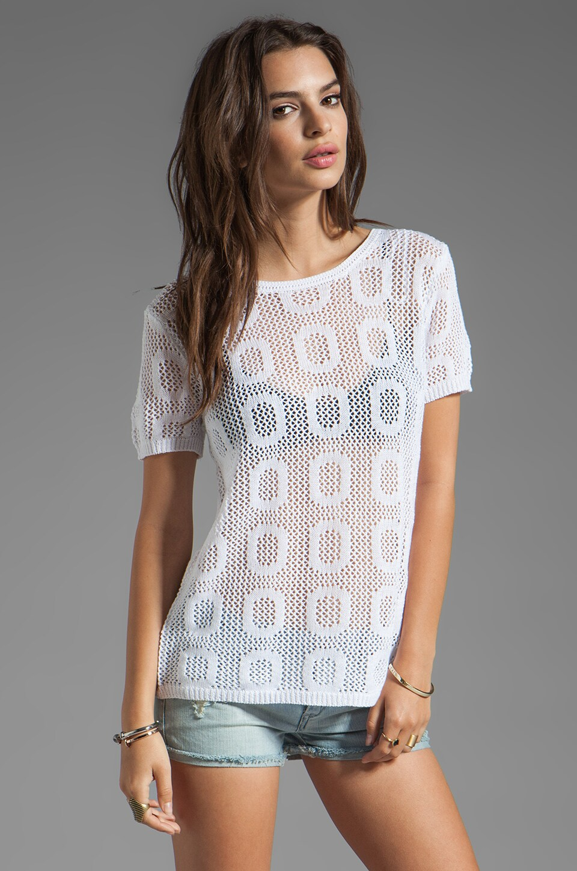 Ash-Rain-Oak Sunny T-Shirt with Back Detail in White