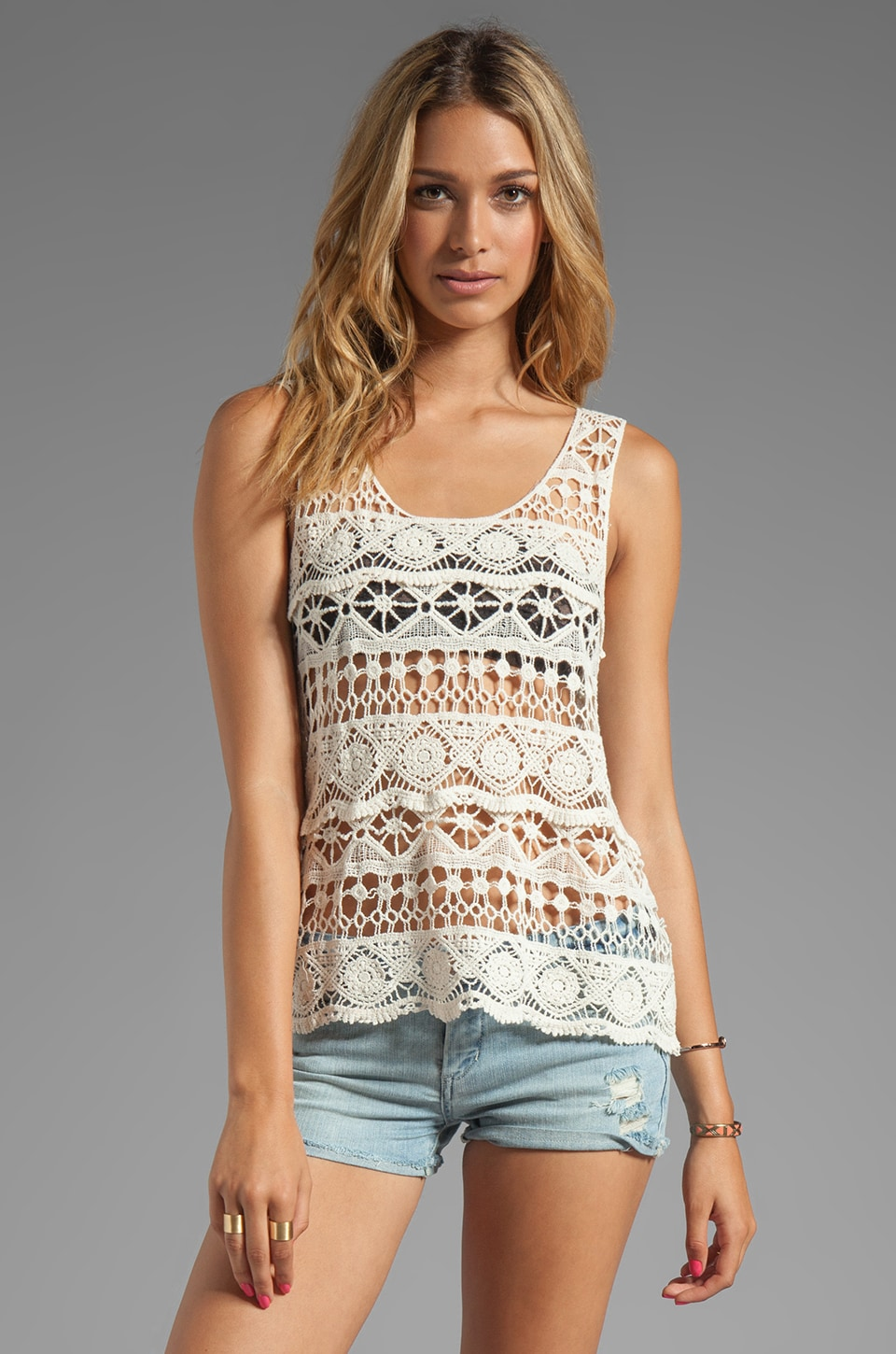 Ash-Rain-Oak Sonya Knit Tank in Nude