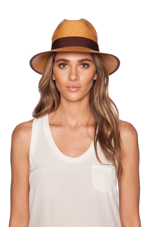 Artesano Clasico Hat in Mustard & Brown