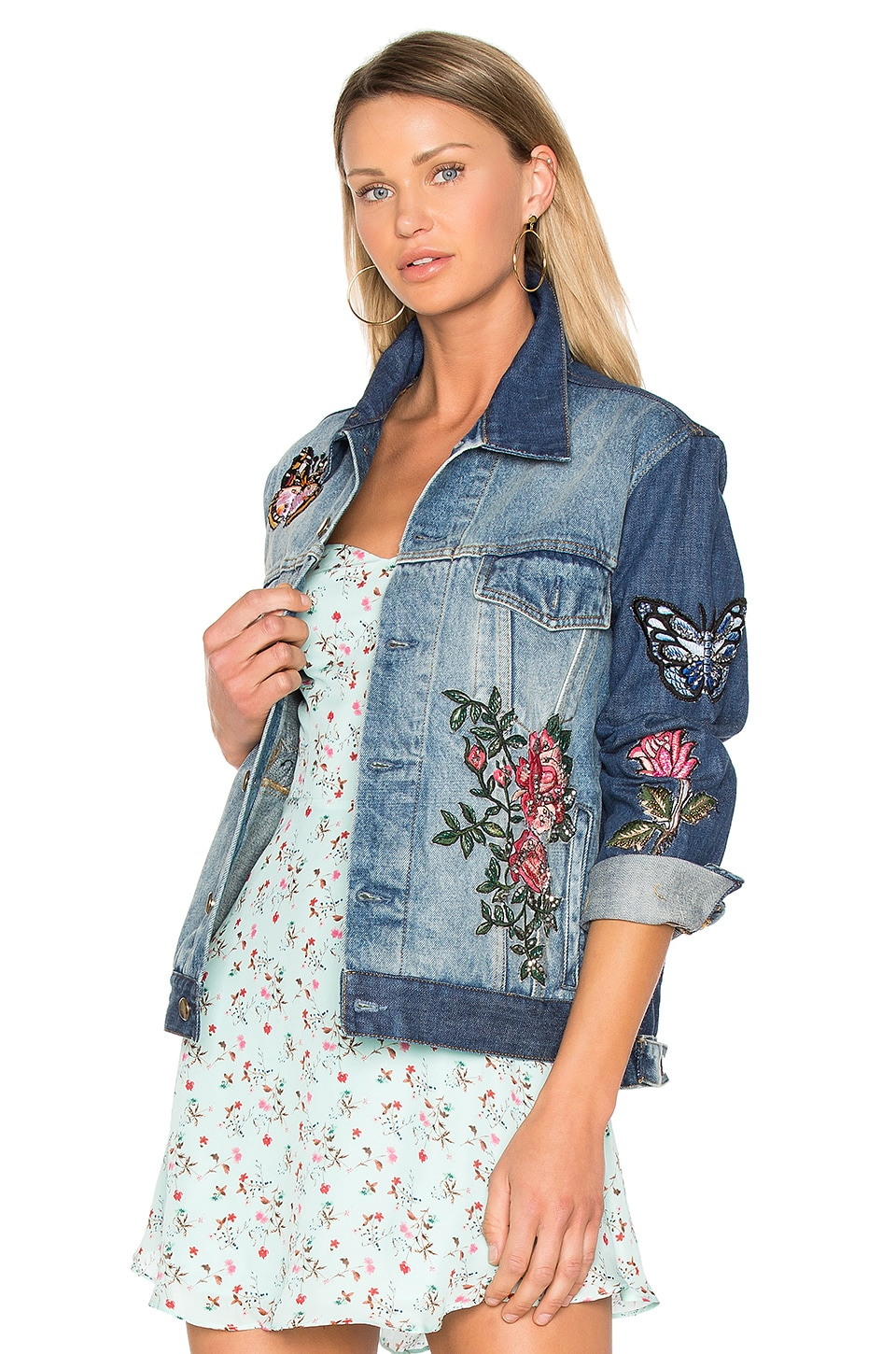 Embroidered Denim Jacket by As65