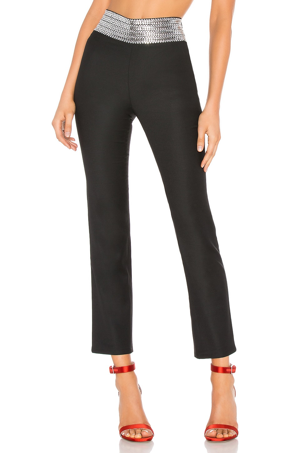 Adam Selman Sport Sandy Pant with Hearts in Black
